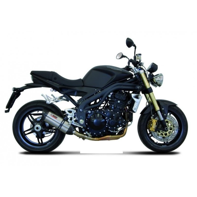 MIVV SOUND STAINLESS STEEL EXHAUST LOW PASSAGE FOR TRIUMPH SPEED TRIPLE 2007/2010, APPROVED