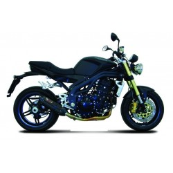 EXHAUST TERMINAL MIVV SOUND BLACK LOW PASSAGE FOR TRIUMPH SPEED TRIPLE 1050 2007/2010, APPROVED