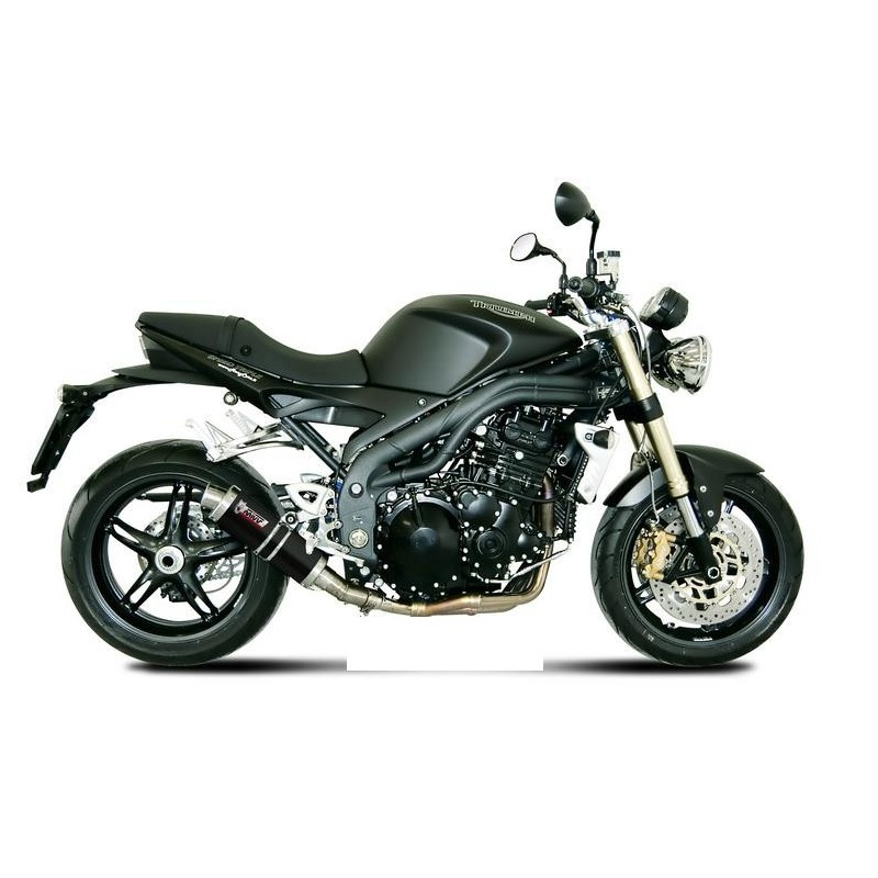 MIVV GP BLACK EXHAUST TERMINAL LOW PASSAGE FOR TRIUMPH SPEED TRIPLE 2007/2010, APPROVED