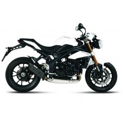 EXHAUST TERMINAL MIVV SOUND BLACK LOW PASSAGE FOR TRIUMPH SPEED TRIPLE 1050 2011/2015, APPROVED