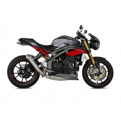 MIVV GHIBLI EXHAUST TERMINAL IN STAINLESS STEEL LOW PASSAGE FOR TRIUMPH SPEED TRIPLE R 2016/2018, APPROVED