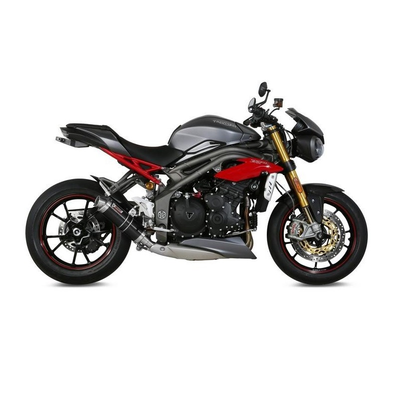 MIVV GP BLACK EXHAUST TERMINAL LOW PASSAGE FOR TRIUMPH SPEED TRIPLE R/S 2016/2018, APPROVED