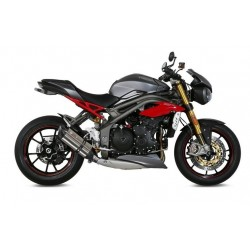 MIVV SOUND STAINLESS STEEL EXHAUST LOW PASSAGE FOR TRIUMPH SPEED TRIPLE R 2016/2018, APPROVED
