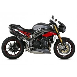 PAIR OF EXHAUST SYSTEMS MIVV SUONO BLACK FOR TRIUMPH SPEED TRIPLE R 2016/2018, APPROVED