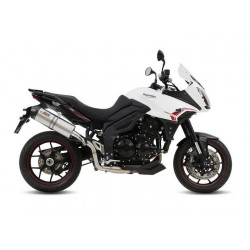 EXHAUST MIVV OVAL TITANIUM WITH CARBON BASE FOR TRIUMPH TIGER SPORT 1050 2013/2016 *, APPROVED