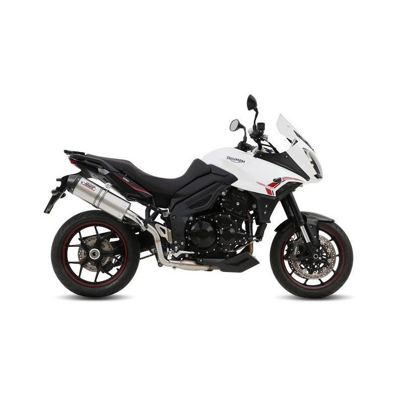 EXHAUST MIVV OVAL TITANIUM WITH CARBON BASE FOR TRIUMPH TIGER SPORT 1050 2013/2016*, APPROVED