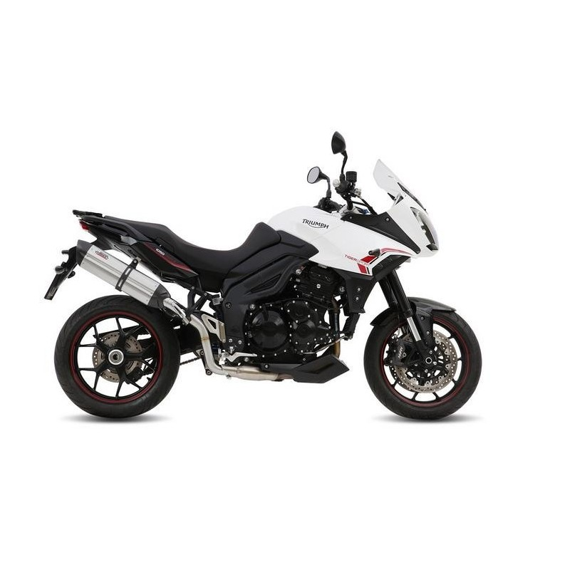 MIVV SOUND STAINLESS STEEL EXHAUST SYSTEM FOR TRIUMPH TIGER SPORT 1050 2013/2016 *, APPROVED