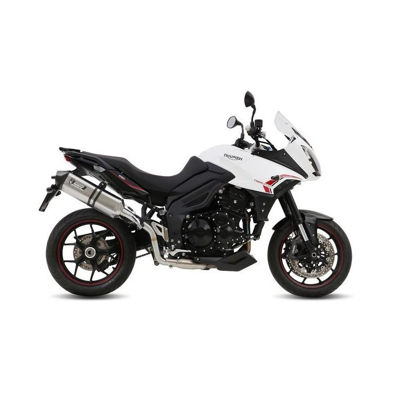 MIVV SPEED EDGE EXHAUST TERMINAL IN STAINLESS STEEL CARBON BASE FOR TRIUMPH TIGER SPORT 1050 2013/2016*, APPROVED