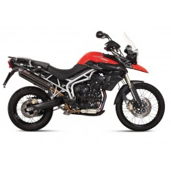 EXHAUST TERMINAL MIVV SUONO BLACK FOR TRIUMPH TIGER 800 2011/2014, APPROVED