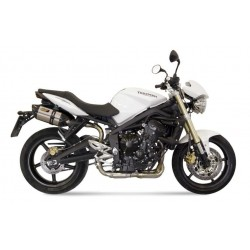 PAIR OF MIVV SOUND EXHAUST SYSTEMS IN STAINLESS STEEL FOR TRIUMPH STREET TRIPLE 675/R 2008/2012, APPROVED
