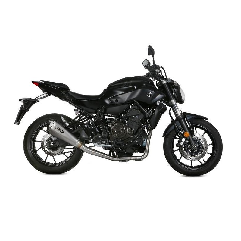 MIVV DELTA RACE COMPLETE EXHAUST SYSTEM IN STAINLESS STEEL HIGH CARBON CUP FOR YAMAHA MT-07 2014/2020