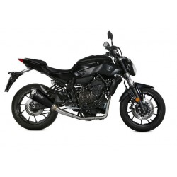 COMPLETE EXHAUST SYSTEM MIVV DELTA RACE BLACK CUP CARBON HIGH FOR YAMAHA MT-07 2014/2019