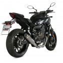 MIVV GP PRO COMPLETE EXHAUST SYSTEM IN HIGH TITANIUM FOR YAMAHA MT-07 2014/2020