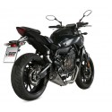 MIVV DELTA RACE COMPLETE EXHAUST SYSTEM IN STAINLESS STEEL CARBON CUP FOR YAMAHA MT-07 2014/2020