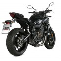 COMPLETE EXHAUST SYSTEM MIVV DELTA RACE BLACK CARBON CUP FOR YAMAHA MT-07 2014/2019