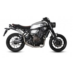 COMPLETE EXHAUST SYSTEM MIVV GHIBLI BLACK HIGH PASSAGE FOR YAMAHA XSR 700 2016/2019, APPROVED