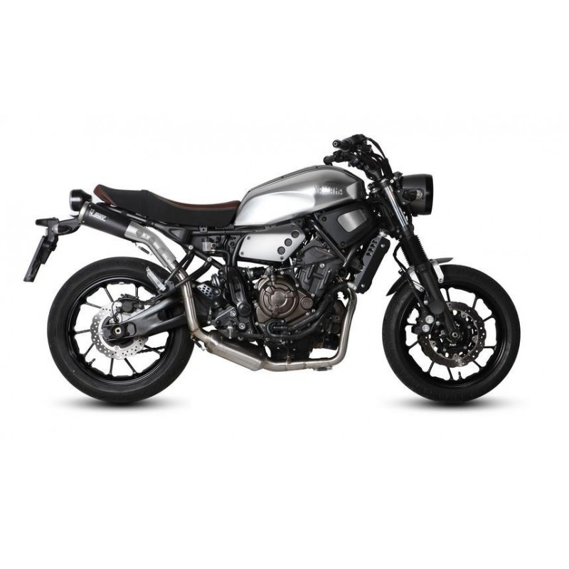 COMPLETE EXHAUST SYSTEM MIVV GHIBLI BLACK HIGH PASSAGE FOR YAMAHA XSR 700 2016/2020, APPROVED