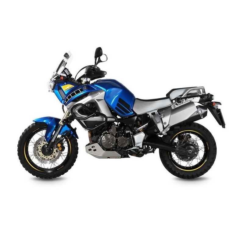 EXHAUST TERMINAL MIVV SPEED EDGE BLACK FOR YAMAHA XT 1200 ZE SUPER TENERE 2014/2020, APPROVED