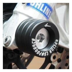 COPPIA TAMPONI PROTEZIONE FORCELLA 4-RACING PER DUCATI HYPERMOTARD 1100/S 2007/2009, HYPERMOTARD 1100 EVO 2010/2011