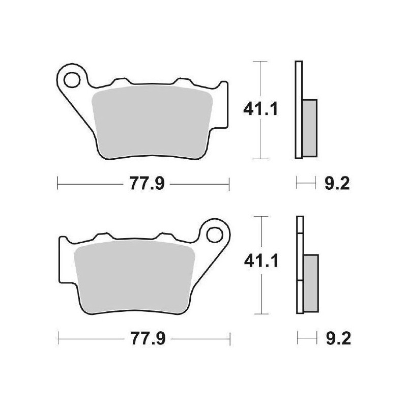 SINTERED REAR BRAKE PADS SET SBS 675 LS FOR DUCATI SCRAMBLER 1100 2018/2019