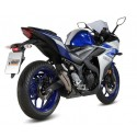 MIVV DOUBLE GUN TITANIUM EXHAUST PIPE FOR YAMAHA YZF-R3 2015/2018, APPROVED