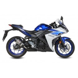 MIVV SUONO EXHAUST PIPE IN STAINLESS STEEL WITH CARBON BASE FOR YAMAHA YZF-R3 2015/2018, APPROVED