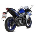 EXHAUST MIVV SOUND BLACK FOR YAMAHA YZF-R3 2015/2018, APPROVED