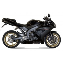 PAIR OF EXHAUST SYSTEMS MIVV SUONO BLACK FOR YAMAHA R1 2004/2006, APPROVED
