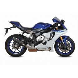 EXHAUST TERMINAL MIVV SUONO BLACK FOR YAMAHA R1 2015/2020, APPROVED
