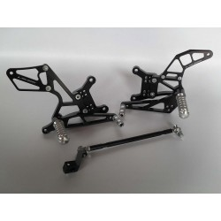 ADJUSTABLE REAR SETS 4-RACING FOR HONDA VTR 1000 SP1, VTR 1000 SP2 (standard shifting)