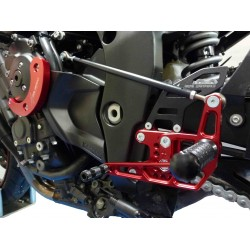 ADJUSTABLE REAR SETS WITH EXTERNAL 4-RACING ROD FOR YAMAHA FZ8 2010/2015, FAZER 8 2010/2015 (standard and reverse shifting)