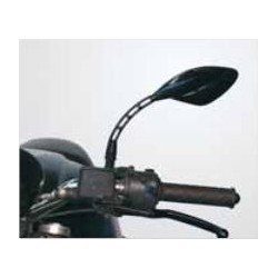 PAIR OF FAR UNIVERSAL REAR-VIEW MIRRORS FOR NAKED MOTORCYCLES, BLACK COLOR