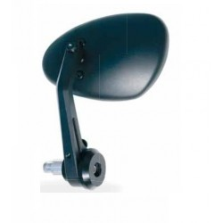 PAIR OF REAR-VIEW MIRRORS FAR BAR END SHIELD UNIVERSAL, BLACK COLOR APPROVED