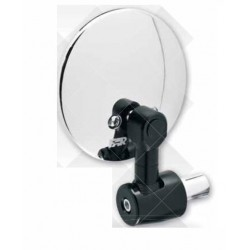 PAIR OF REAR-VIEW MIRRORS FAR BAR END UNIVERSAL, CHROME COLOR APPROVED