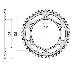 STEEL REAR SPROCKET FOR 428 CHAIN FOR APRILIA RS4 125 2011/2019
