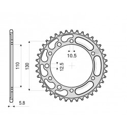 STEEL REAR SPROCKET FOR 520 CHAIN FOR KAWASAKI NINJA 300 2013/2018