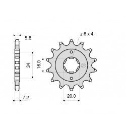 STEEL FRONT SPROCKET FOR CHAIN 520 FOR KTM DUKE 125 2011/2016