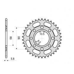 STEEL CROWN FOR CHAIN 520 FOR KTM DUKE 125 2011/2013