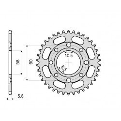 STEEL REAR SPROCKET FOR CHAIN 520 FOR KTM DUKE 125 2011/2013*