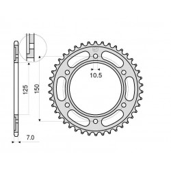 STEEL CROWN FOR 525 CHAIN FOR KTM 1290 SUPER ADVENTURE 2015/2016
