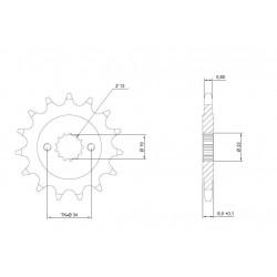 STEEL FRONT SPROCKET FOR CHAIN 520 FOR KTM 390 DUKE 2014/2020