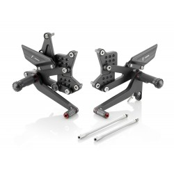 ADJUSTABLE BACK PLATFORMS RIZOMA RRC PER314B MODEL FOR KAWASAKI ZX-6R 2005/2017