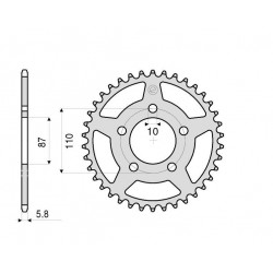 ALUMINIUM REAR SPROCKET FOR ORIGINAL CHAIN 520 FOR SUZUKI BANDIT 650/S 2005/2006