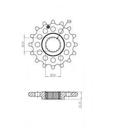 STEEL FRONT SPROCKET FOR ORIGINAL CHAIN 525 FOR SUZUKI GSX-R 1000 2017/2020, GSX-R 1000 R 2017/2020