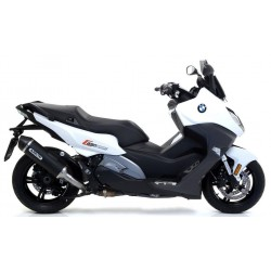 EXHAUST TERMINAL ARROW RACE-TECH ALUMINUM DARK CARBON BACK FOR BMW C 650 SPORT 2016/2020, APPROVED
