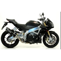 ARROW RACE-TECH EXHAUST TERMINAL IN DARK ALUMINUM WITH CATALYTIC CONNECTION FOR APRILIA TUONO V4 R 2011/2014, APPROVED