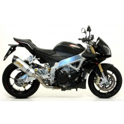 ARROW RACE-TECH ALUMINUM EXHAUST TERMINAL WITH CATALYTIC CONNECTION FOR APRILIA TUONO V4 R 2011/2014, APPROVED