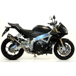 ARROW RACE-TECH CARBON EXHAUST TERMINAL WITH CATALYTIC FITTING FOR APRILIA TUONO V4 R 2011/2014, APPROVED