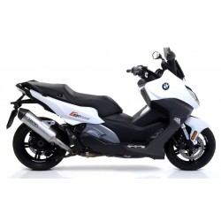 ARROW RACE-TECH ALUMINUM EXHAUST TERMINAL CARBON BASE WITH CATALYTIC CONNECTION FOR BMW C 650 SPORT 2016/2020, OMOL
