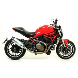 RACE-TECH ARROW EXHAUST TERMINAL IN ALUMINUM CARBON CUP WITH CATALYTIC CONNECTION FOR DUCATI MONSTER 821 2014/2017, OMOL.